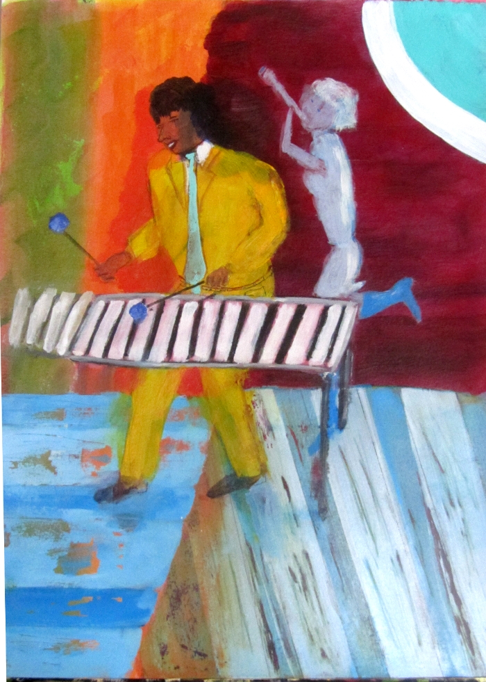 Xylophone Player at the Palau