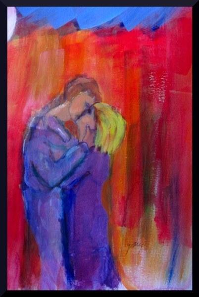 "Pareja: Enamorado con Amor (Couple: In Love With Love) 35 cm x 29.7, 13"" x 11.7"