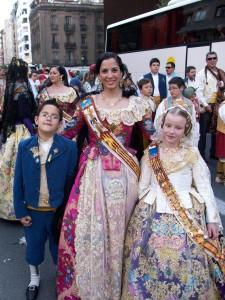 Our friend Nuria in her fallera dress