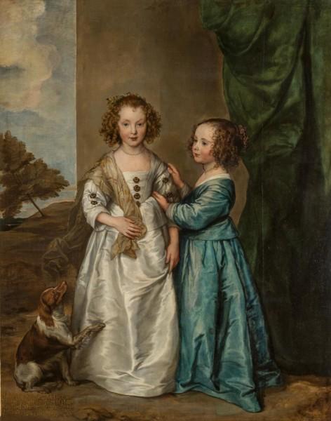 Anthony Van Dyck Portrait of Philadelphia and Elizabeth Wharton