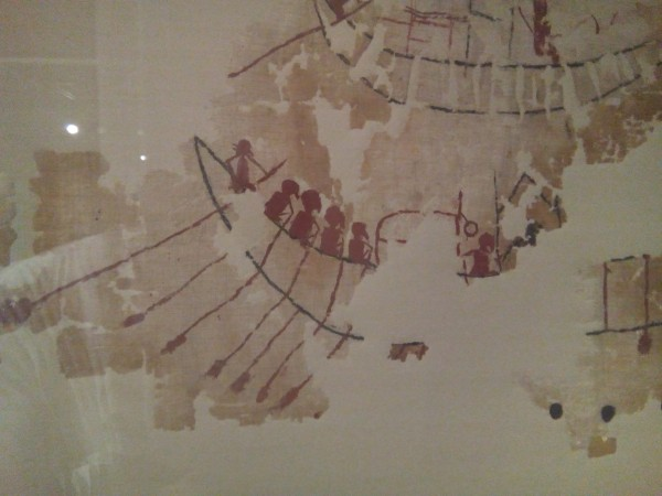 Oldest known painting on linen. Linen is still the favorite fabric of artists.