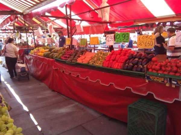 Street market in Turin