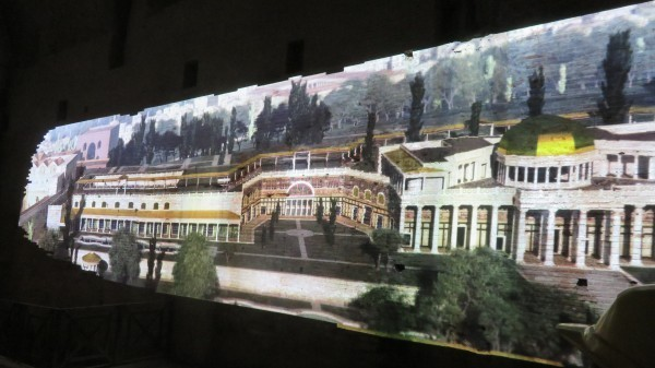 Artist's rendition of portion of Domus Aurea complex