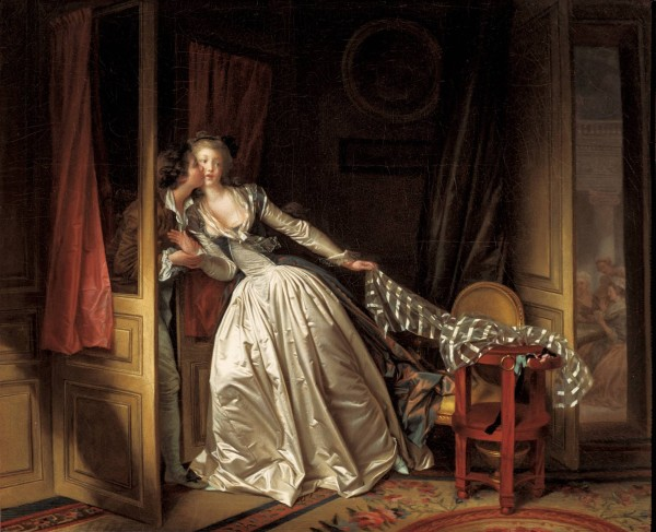 Jean-Honore Fragonard and Marguerite Gerard's 'The Stolen Kiss' (late 1780s)