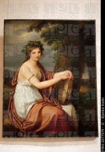'Portrait of a Young Woman dressed as a Bacchante, by Angelica Kauffmann, Palazzo Barberini, Rome, Italy.