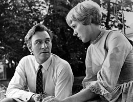 Christopher_Plummer and Julie Andrews during the filming of Sound of Music