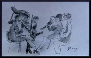 Banda de Valencia Dec 2015, pen and ink