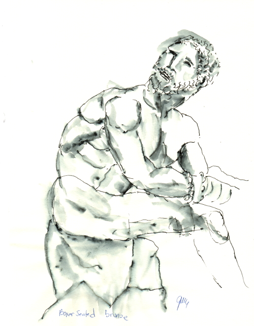 The Seated Boxer, at Museo Nazionale Romano.