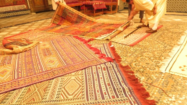 Traditional carpets in Fes