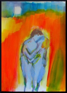 "Pareja: Enamorado con Amor (Couple: In Love With Love) III 35 cm x 29.7, 13"" x 11.7"