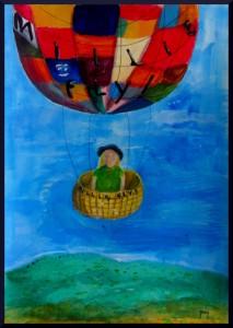 """""""Millie, Fly"""" acrylics, A3 11.5 x 16.5"""""""