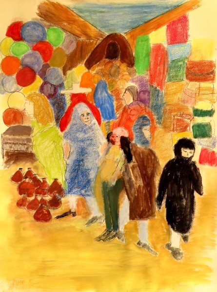 Moroccan Souk, pastel, alcohol blends