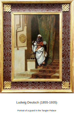 Portrait of Guard in Tangier Palace