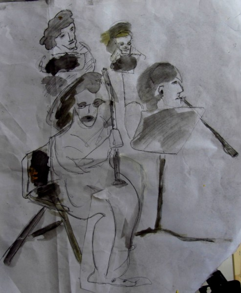 Quartet drawing