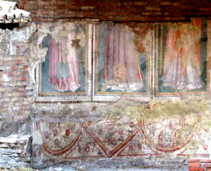 Roman era frescoes at Tor di Argentina