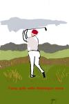 Trump Golfs While Washington Burns