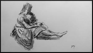 Sketch of van Bronckhorst Betsaben al Bagno
