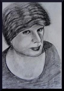 "Portrait of Woman (graaphite) A3, 8 x 11.5"""