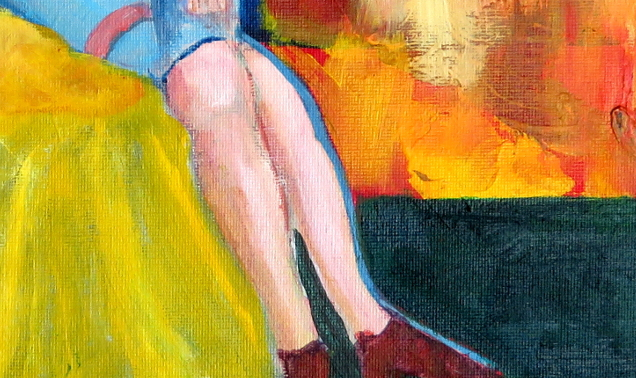 Woman in Boudoir detail